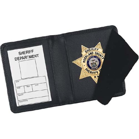 Strong Leather Book Style Badge Wallet - CDCR Badge