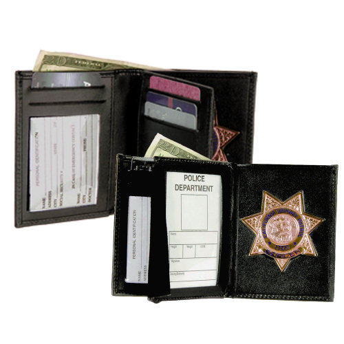Strong Leather Deluxe Single ID Badge Wallet