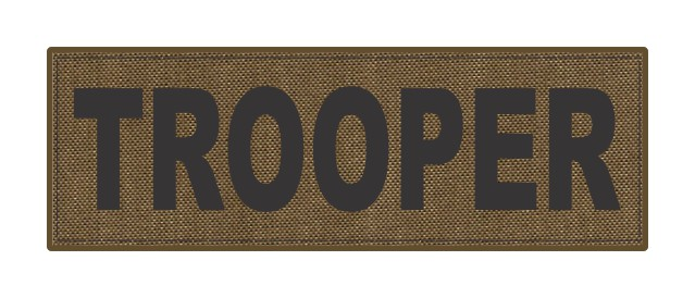 TROOPER ID Patch - 6x2 - Black Lettering - Tan Backing - Hook Fabric