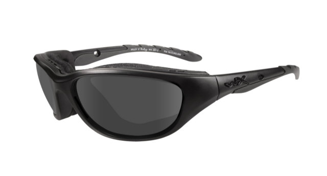 Wiley X Black Ops Airrage Sunglasses - Smoke Grey Lenses / Matte Black Frames