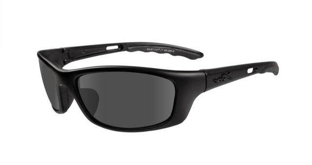 Wiley X Black Ops P-17 Sunglasses - Smoke Grey Lenses / Matte Black Frame