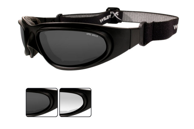 Wiley X SG-1 Interchangeable - Smoke Grey / Clear Lenses