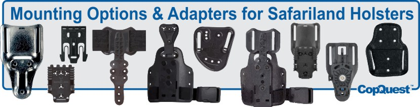 Safariland holster adapters.