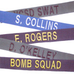 Custom embroidered name tapes